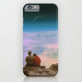 Love is looking in the same direction iPhone Case