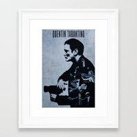 quentin tarantino Framed Art Prints featuring Quentin Tarantino by Edward J. Moran II