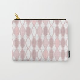 Pinkish - brown pattern on white. Carry-All Pouch