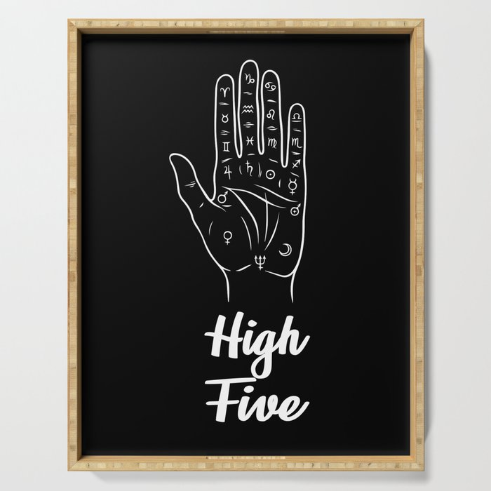 Fortune Teller's High Five Serving Tray