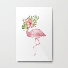 Flamingo Dreams Metal Print
