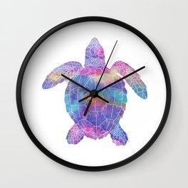 Watercolor Sea Turtle Wall Clock