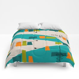 Mid-Century Modern Abstract Comforters