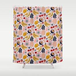 Pastel Fresh Funky Fruit Shower Curtain