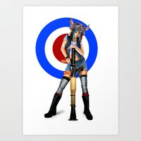 tank girl Art Prints featuring Tank Girl by Valérie Loetscher (Vay)