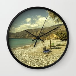 Cretan Paradise Wall Clock