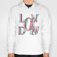 london Hoodies featuring London by Fimbis