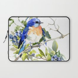 Bluebird and Blueberry Laptop Sleeve