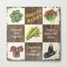 Organic Veggie Patch 1 Metal Print
