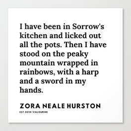 Zora Neale Hurston Quotes |24  | 20062 | Black Writers | Motivational Quotes For Life| Canvas Print