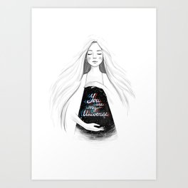 You are my universe Art Print
