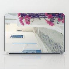 White Santorini Street iPad Case