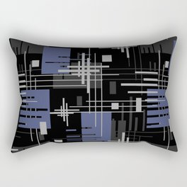 Black and blue abstract Rectangular Pillow
