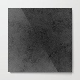 Black suede Metal Print