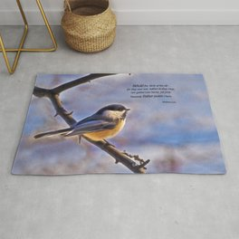 Behold the Birds Chick-a-dee Rug