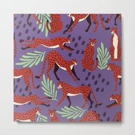 Dark cheetah pattern Metal Print