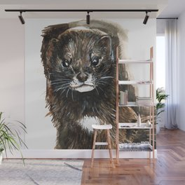 European Mink Wall Mural