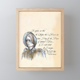 Jane Eyre - Feminist Quote Framed Mini Art Print