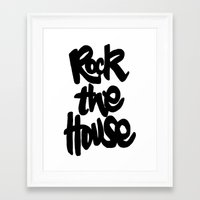 gorillaz Framed Art Prints featuring Rock The House by Parys