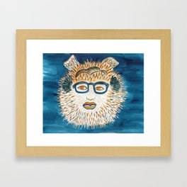 Spirit Animal Pufferfish Framed Art Print