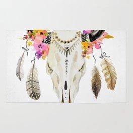 free spirit- tribal skull Rug