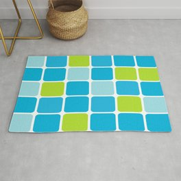 blue and green squares  Rug