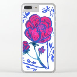 Rose and Japanese Tree Clear iPhone Case