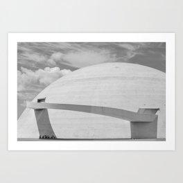 Niemeyer   architect   National Museum Art Print