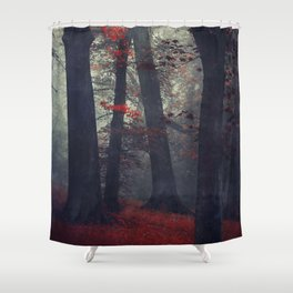 feel unreal - magical forest scene Shower Curtain