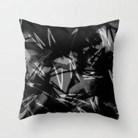 noir Throw Pillows featuring Noir by Raluca Ag