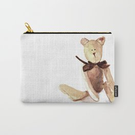 Brown Teddy Watercolor painting Carry-All Pouch
