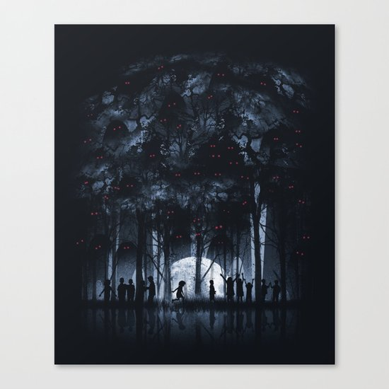 Creatures Rule the Night Canvas Print