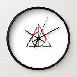 The Deathly Floral Hallows Wall Clock