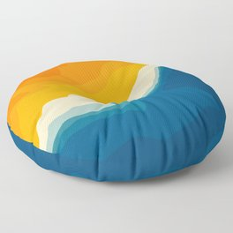 Seascape aerial view Floor Pillow