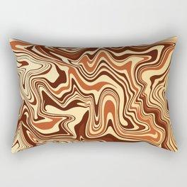 Brown Marble Rectangular Pillow