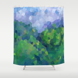 Abstract Landscape in the mountains Shower Curtain