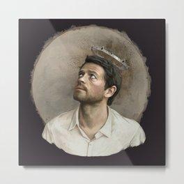 Castiel. White crown. Metal Print