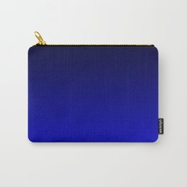 Midnight Black to blue ombre flame gradient Carry-All Pouch