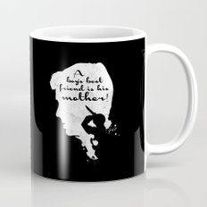 Boy's best friend – Norman Bates Psycho Silhouette Quote Mug