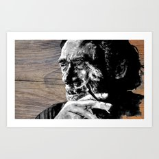 Hank on wood Art Print