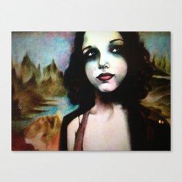 mona lisa in 2011 Canvas Print
