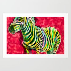 Mr. Zebra Art Print