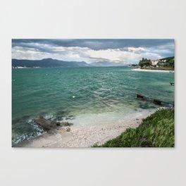 beautiful view from Ciovo island in Croatia Canvas Print