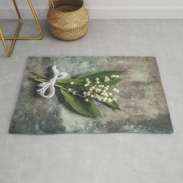 Beautiful Lily Of The Valley Rug