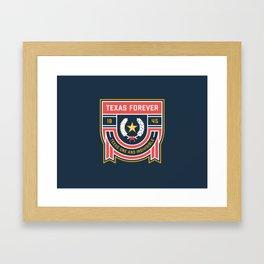 Texas Forever Seal Framed Art Print