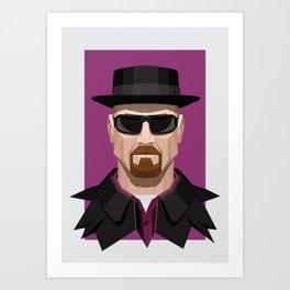 Breaking Bad - Heisenberg Art Print