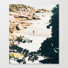Solo Traveler    #illustration #travel Canvas Print
