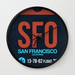 SFO San Francisco Luggage Tag 2 Wall Clock