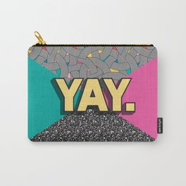 Yay. Positive Typography Message Carry-All Pouch