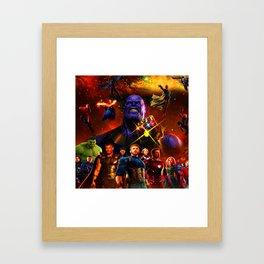 hero war Framed Art Print